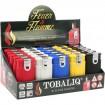 Feuerzeug 2 Flammen, 5 Farben sort. 3,2x6,5cm