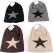Winter Damen Strickmütze mit Stern, bicolor