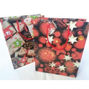 Geschenktasche 'Päckchen, Sterne, Kugeln'