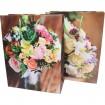 Geschenktasche 16x11cm, Blumen-Strauß-Design