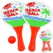 Beach Ball Set, 2 Schläger + Ball im Netz 33x19cm
