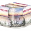 Duftkerze Motivglas Relax 100gr weisses Wachs