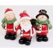 Santa, Kind und Schneemann 7x5,5x4cm,