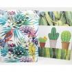 Geschenktasche XL 34,5x25x8,5cm Dschungel/Kaktus